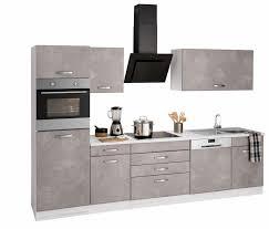 K Henzeile Online Zusammenstellen Held Möbel Küchenzeile York Mit E Geräten Breite 300 Cm Online