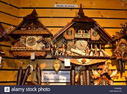 Cuckoo Clock Germany Black Forest Cuckoo Clocks Souvenirs Titisee Germany Stock