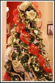 deco mesh ribbon how to decorate a christmas tree with deco mesh ribbon 10 ts1 us