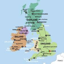 map uk ireland scotland tours vacations trafalgar ca