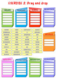 Parts Of Speech Worksheet Parts Of Speech Interactive Worksheet