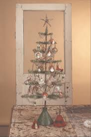 bethany lowe primitive feather tree emboss christmas tree and