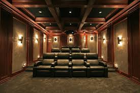 Home Theater Ceiling Lighting Crown Point Theater Traditional Home Theater And Ceiling Treatment