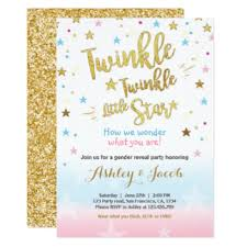 reveal baby shower gender reveal invitations announcements zazzle