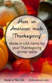 make it an american made thanksgiving dinner this year usa list