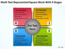 square block with 4 stages ppt business plans examples powerpoint