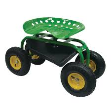 gardening stool with wheels home outdoor decoration