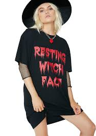 halloween resting witch face graphic tshirt dolls kill