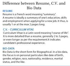 What Is Difference Between Cv And Resume Resume Vs Cv Vs Biodata 28 Images Cv Resume Biodata Resume Cv