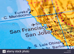 San Francisco City Map by San Francisco City In Usa On The World Map Stock Photo Royalty