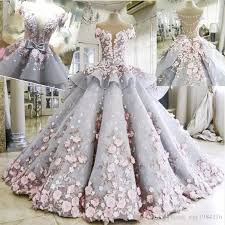 faerie wedding dresses discount 3d floral appliques wedding gowns charming see