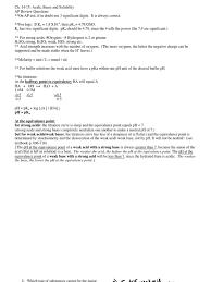 ap ch 14 15 acids u0026 bases review answers titration acid
