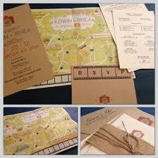 Map Wedding Invitations Map Fold Out Wedding Invitation