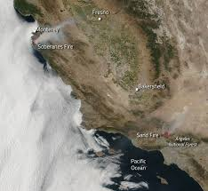 Wildfire Map National by Sand And Soberanes Fires Largest In California At Present Nasa