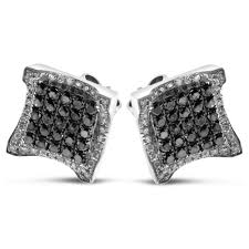 mens black diamond earrings men black diamond earrings white gold black diamond earrings