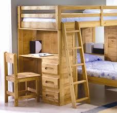 Wooden Bunk Bed With Desk Wood Loft Bed With Desk Desk