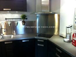 cuisine avec credence inox le décoration de crédence inox page 7 conseils et