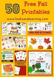 50 free fall printables free homeschool deals