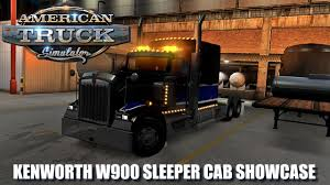w900 kenworth trucks for sale canada american truck simulator my kenworth w900 sleeper cab youtube