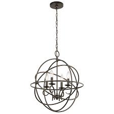 vivian 4 light chandelier in olde bronze