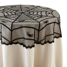 totally ghoul halloween tablecloth cover spider web home
