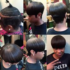sew in weave short hair atlanta partial sew in with hair left out at the crown the rose affect