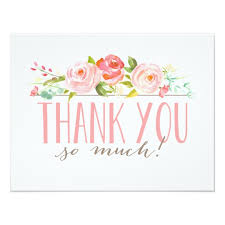 garden thank you card zazzle