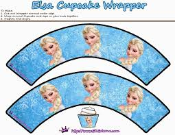cupcake wrappers frozen favor box free printable ideas