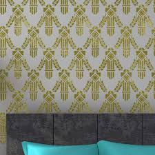 allover wall stencil doris for easy diy wall design better