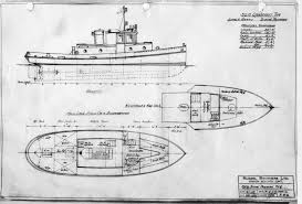 Blueprints by Russel Brothers Ltd Steelcraft Winch Boat And Warping Tug