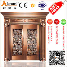 Safety Door Design by Front Safety Door Design Customized Copper Door House Entrance