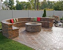 Gas Fire Pit Kit by Love The Outdoor Fire Pit With The Stone Sitting Bench Favorite