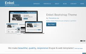 menu templates for bootstrap enkel responsive bootstrap theme business corporate