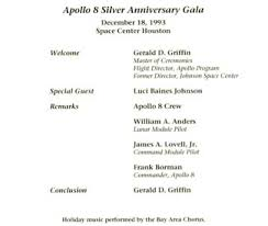wedding anniversary program apollo 8 silver anniversary gala in houston