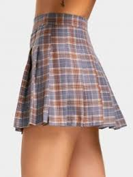 pleated skirt high waist checked pleated skirt checked skirts m zaful