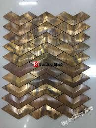3d metal wall tile backsplash smmt068 antiqued copper mosaic