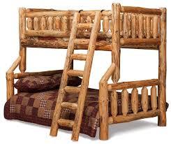 Log Furniture Rustic Bunk Beds - Log bunk beds