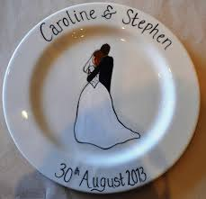 wedding plate the clay studio wedding signing plates