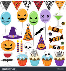 set of vector halloween party elements 85003285 shutterstock