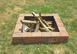 How To Build A Square Brick Fire Pit - how to build a simple fire pit simple backyard fire pit