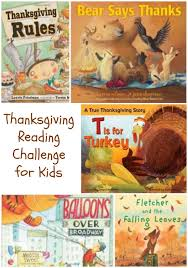 thanksgiving books for reading challenge w free printable