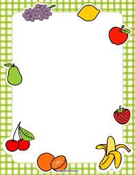 fruits and vegetables clipart border clipartxtras