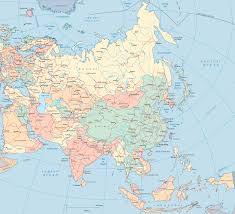 Asia Geography Map Map Asia India China Japan
