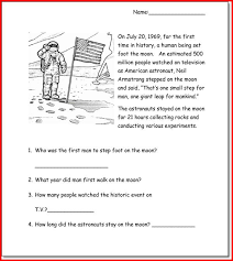 reading comprehension worksheets for 1st grade kristal project