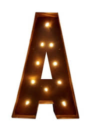 metal letter words with led light decorative metal letters metal
