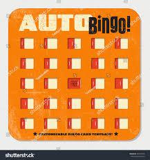 retro bingo card template sliding windows stock vector 393125458