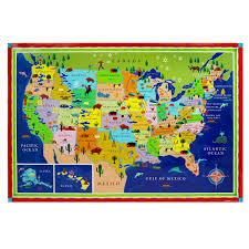 Kids City Rug by Download Map Usa For Kids Major Tourist Attractions Maps