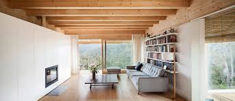 home home interior design llp wooden llp home in the middle of the forrest by alventosa morell