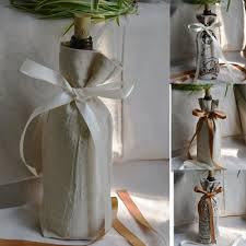 gift packaging for wine bottles cotton linen bottle gift packaging bag 13x30cm pack of 20
