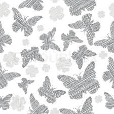grey butterfly seamless vector background stock vector colourbox